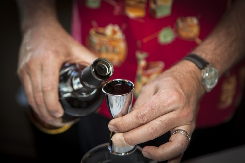 Zacapa tasting pouring a drink
